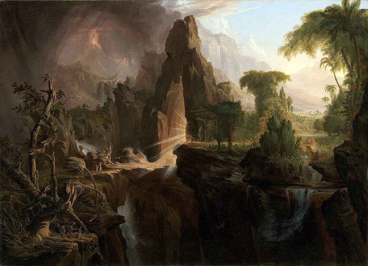 Thomas Cole: Expulsion from the Garden of Eden